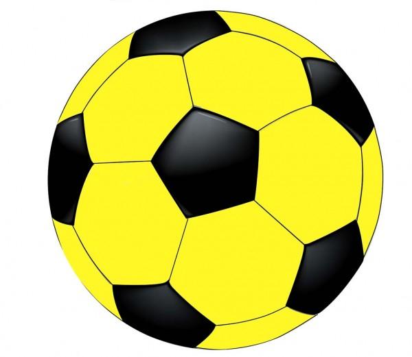 Tortenaufleger Fußball gelb/schwarz
