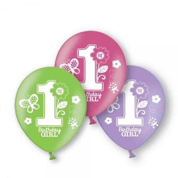 1.Geburtstag Mädchen-Ballons