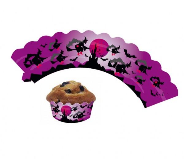 Cupcake Banderolen Hexe 12St.