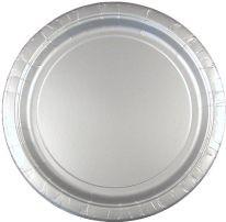 Edele, silberne Teller für z.B. Astronautenparty oder Ritterparty
