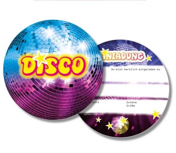 Disco-Einladungen 6St.