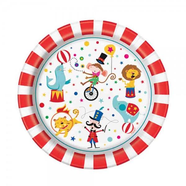 Lustige Zirkus Teller für den Kindergeburtstag Zirkus