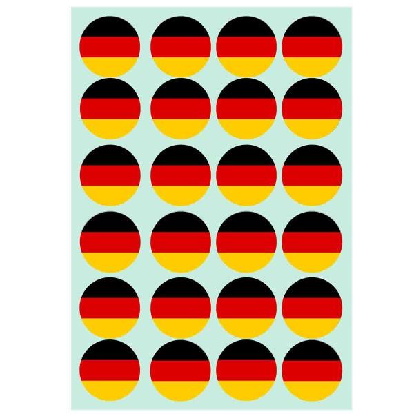 Essbare Muffindekoration zum Thema Deutschland