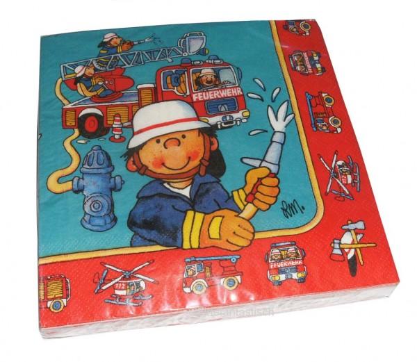 Servietten Feuerwehrmann