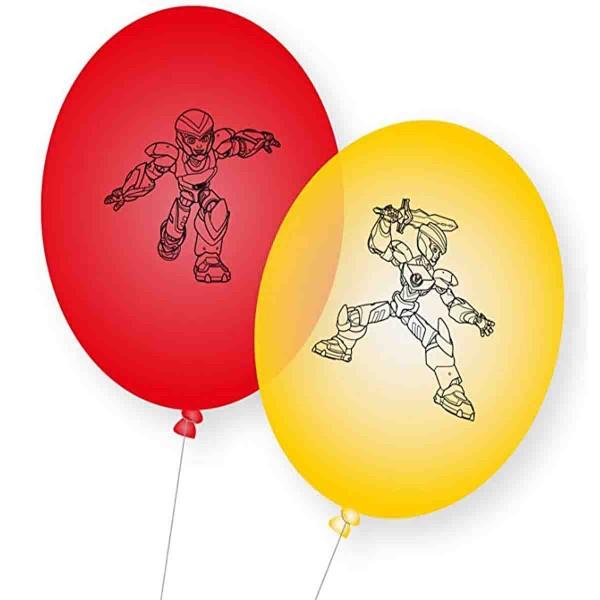 8 Ballons für den Power Players Geburtstag