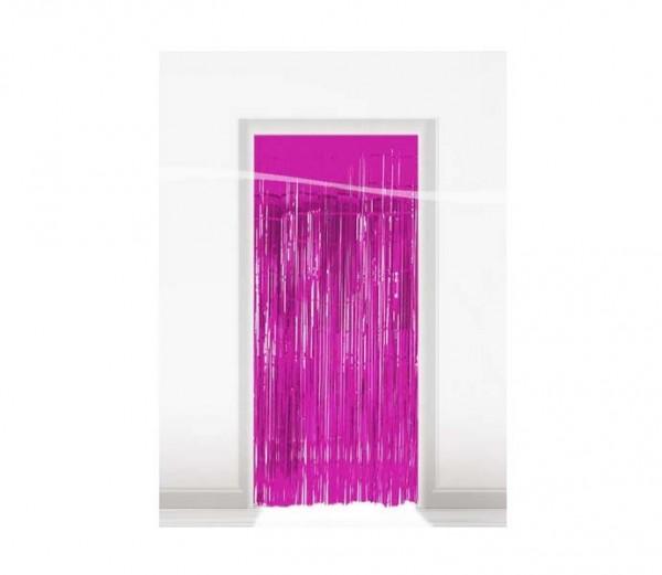 Rosa Flimmer-Türvorhang