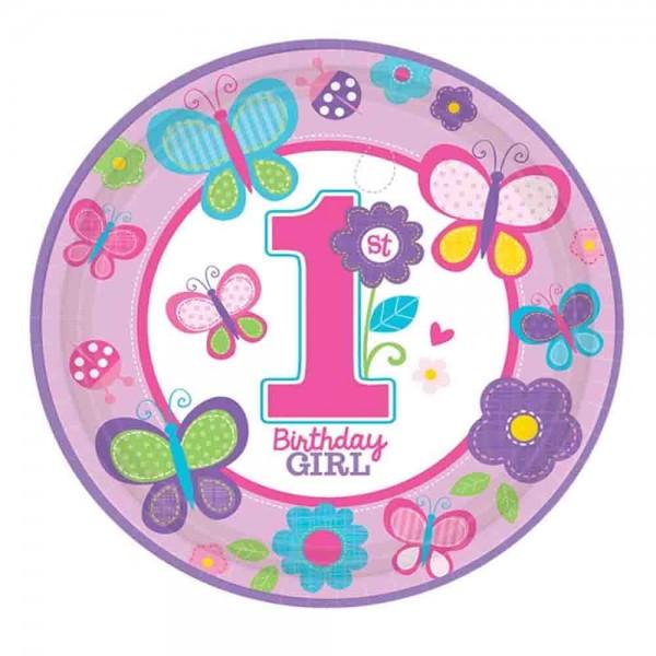1.Geburtstag Mädchen Teller