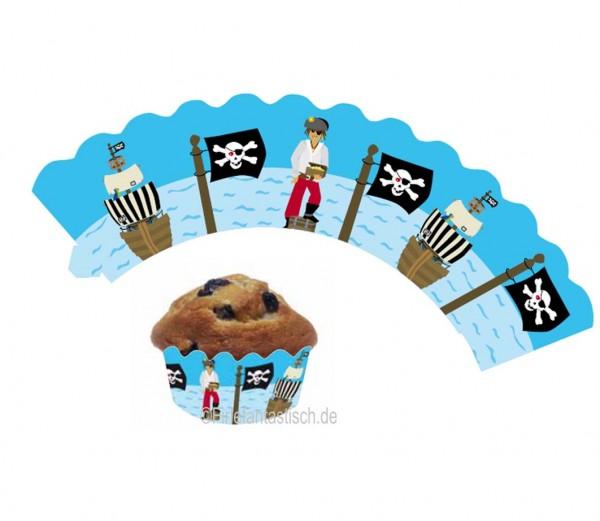 Cupcake Banderolen Pirat 12St.