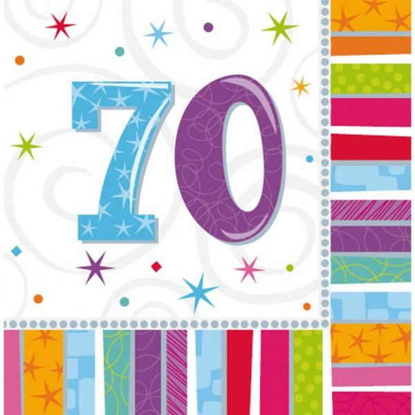 Servietten für den 70. Geburtstag
