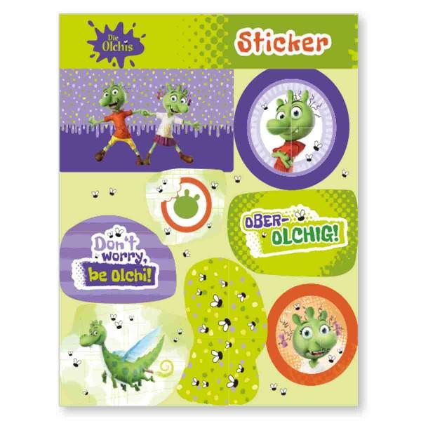 Olchis Sticker, Mitgebsel auf der Olchis Party