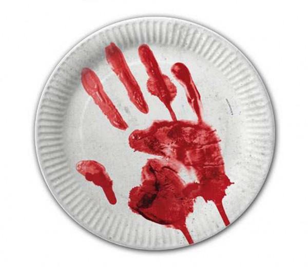 Blutige Hand-Teller 10 St.