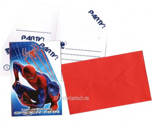 Spiderman Einladungen 6St.