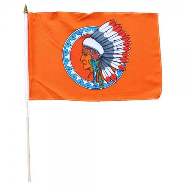 Indianerfahne am Holzstab