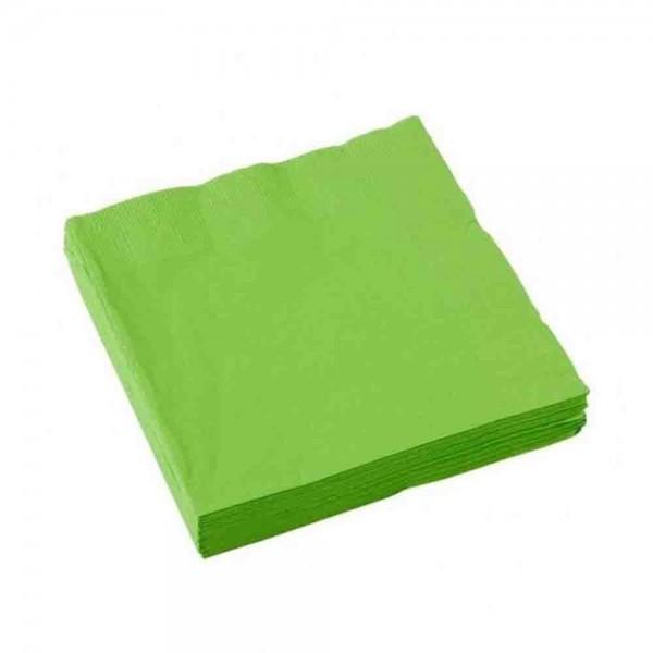 Einfarbige Servietten in Grün, ideal Für die Dschungelparty