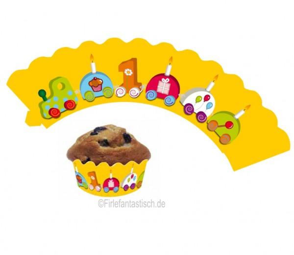 Cupcake Banderolen 1.Geb. 12St.