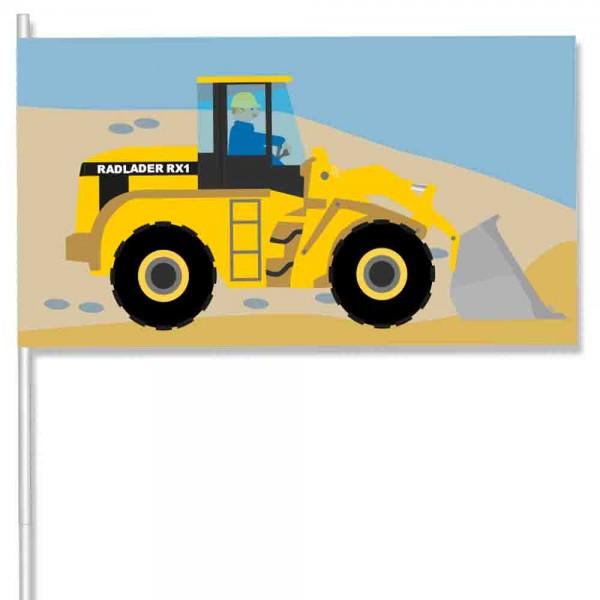 Papierflaggen Baustelle 8 Stück