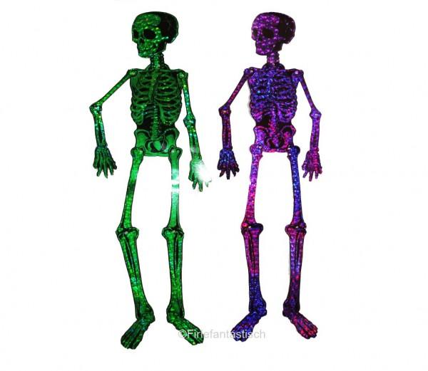 Schimmerndes Skelett Lila
