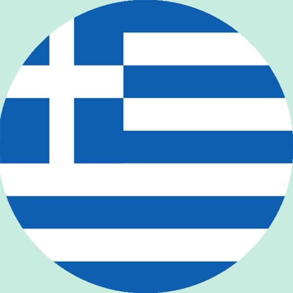 Essbarer Aufleger für die Griechenland Party