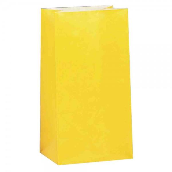Geschenktüten in Gelb, 12 Stück