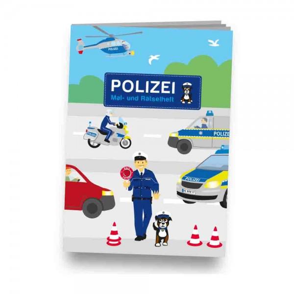 Rätselheft zum Thema Polizei