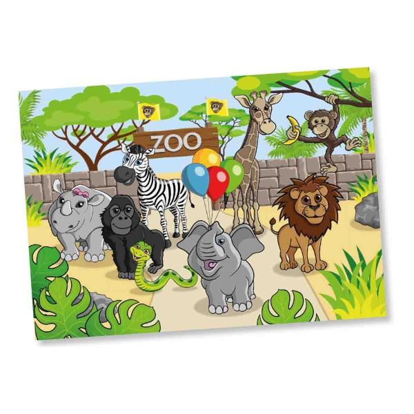 Platzsets als Tischdecke zum Thema Zoo Geburtstag