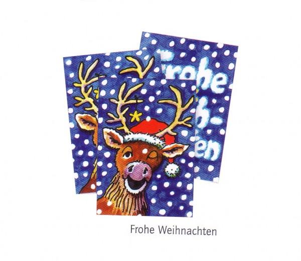 Wackelbild-Postkarte Frohe Weihnachten