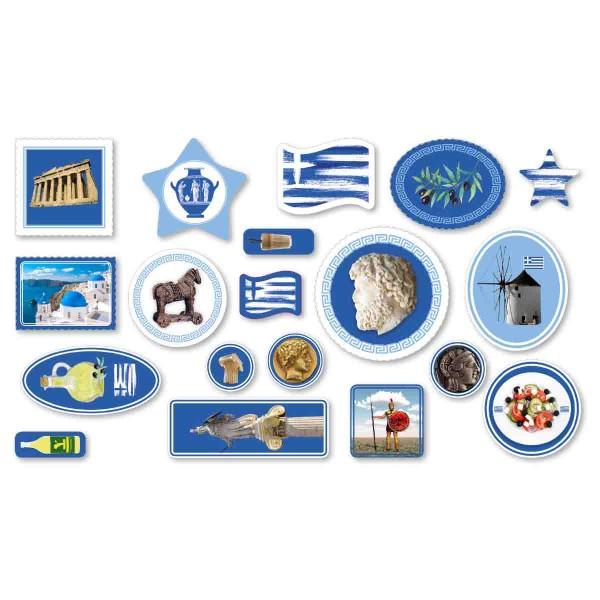 Großes Konfetti zum Thema Griechenland