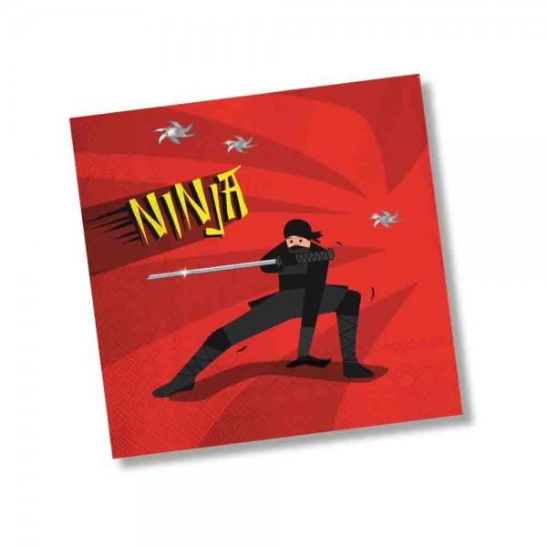 Ninja Kämpfer Servietten