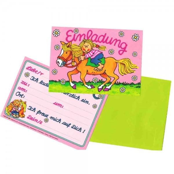 Ponyhof-Einladungen 8St.
