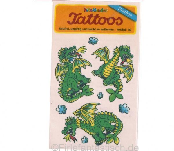 Tattoo grüne Drachen