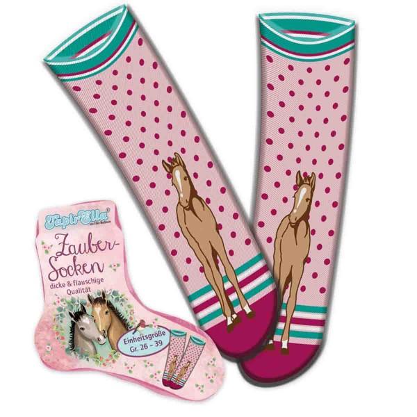 Flauschige Socken für Pferde-Fans