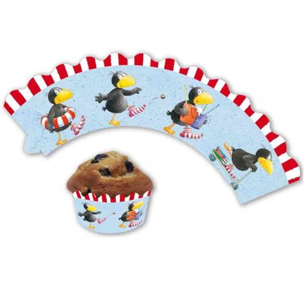 Der kleine Rabe Socke Cupcake Banderolen