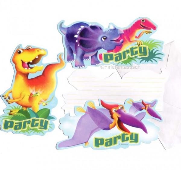Einladungskarten für die Dinosaurier Party