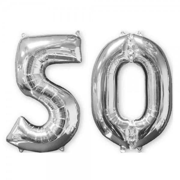 Folienballons für den 50. Geburtstag