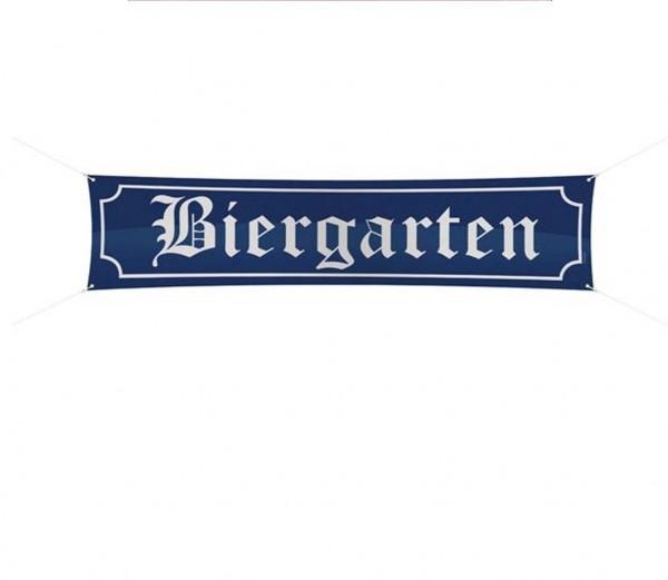 Straßenbanner Biergarten