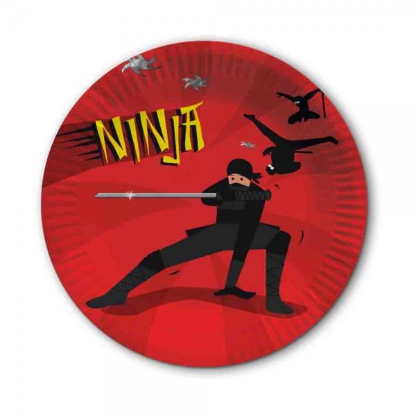 Ninja Kämpfer Teller