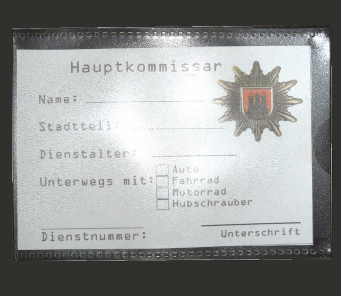 Polizeiausweis Set für 4St.   Polizeigeburtstag Basteln