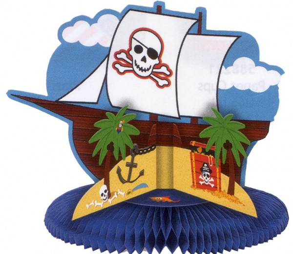 Flagge mit Piratenschiff