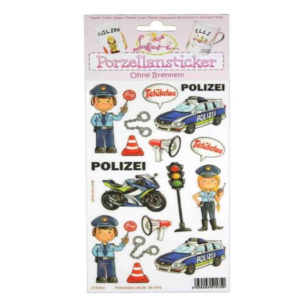 Gestalte Deine eigene Tasse: Porzellansticker Polizei