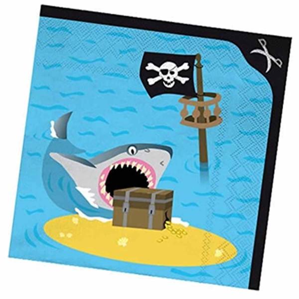 Servietten Pirateninsel