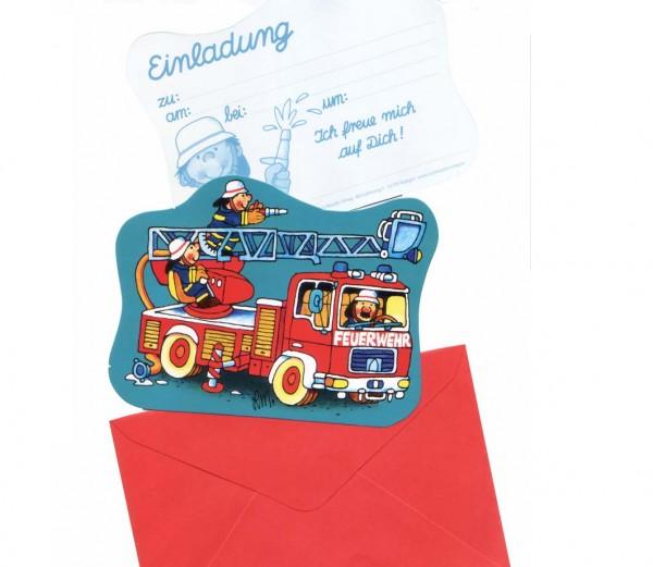 Einladungen Feuerwehrmann