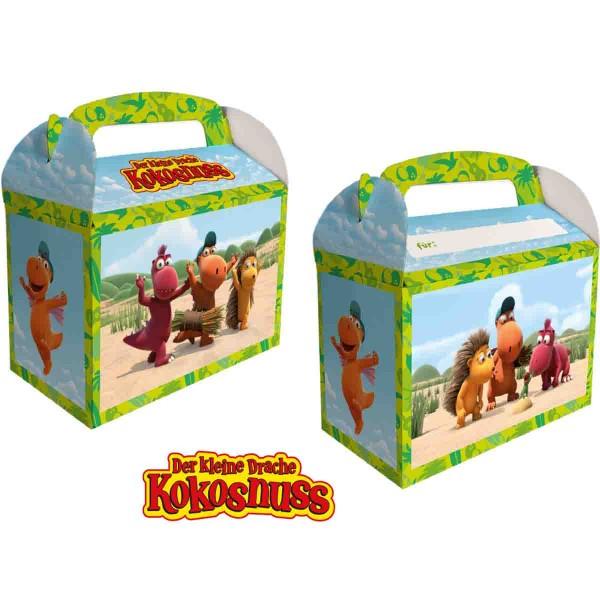 8 Geschenkboxen für die kleinen Überraschungen auf der Drachen kokosnuss Party