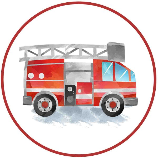 Essbarer Aufleger Feurwehrauto für den Feuerwehrkuchen