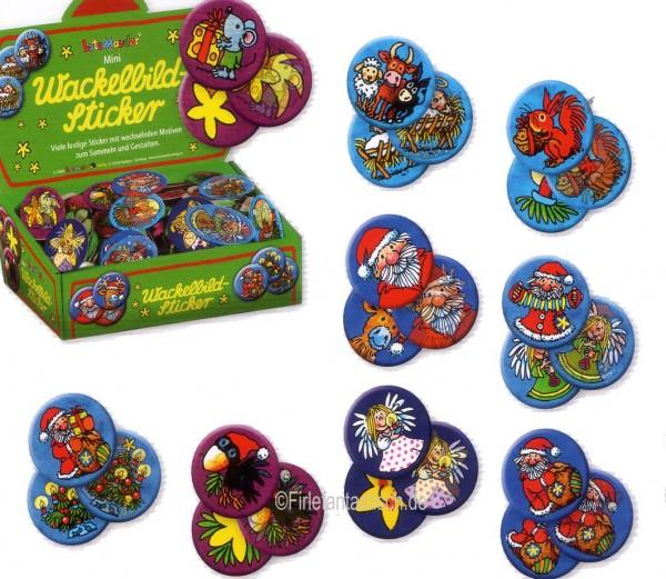 Mini-Wackelbild-Sticker Weihnachten