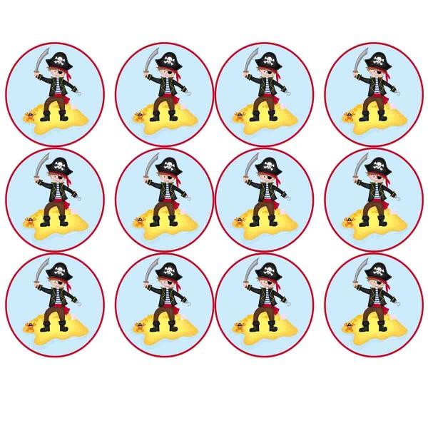 Essbare Muffinaufleger für den Kindergeburtstag Pirat