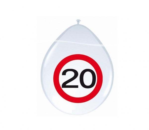Ballons mit Zahl 20