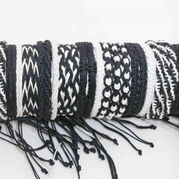 Armband Schwarz/Weiß