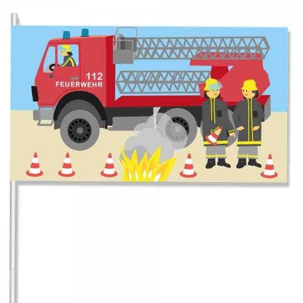 Papierflaggen Feuerwehr