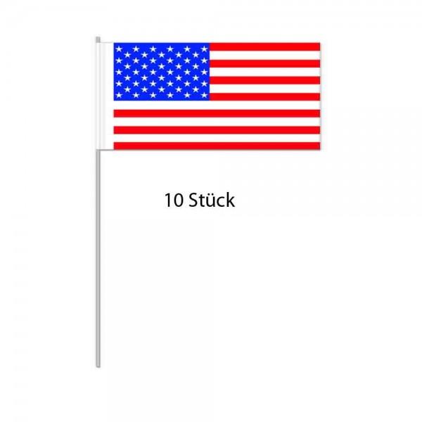Papierflaggen USA 10 Stück