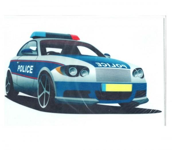 Kuchenaufleger DIN-A-4 Polizeiauto